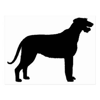 Irish Wolfhound (in black) Postcard