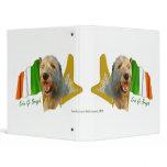 Irish Wolfhound Irish Flag and Harp 3 Ring Binder