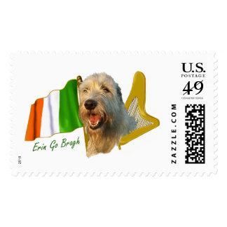 Irish Wolfhound Irish Flag and Harp Postage