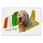 Irish Wolfhound Irish Flag and Harp Stationery Note Card