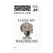 Irish Wolfhound Love! Postage Stamps