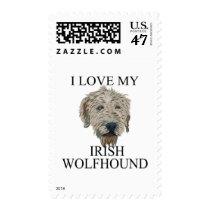 Irish Wolfhound Love! Stamp
