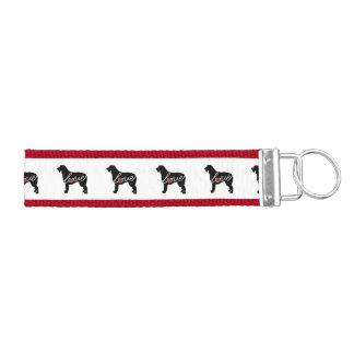 Irish Wolfhound Love Wrist Keychain