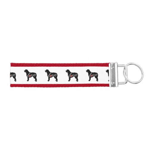 Irish Wolfhound Love Wrist Keychain