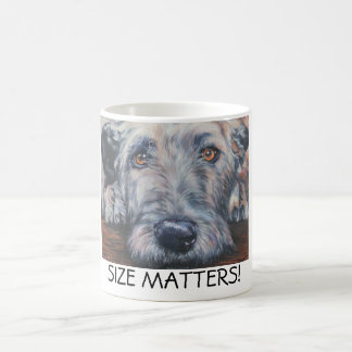irish wolfhound mug SIZE MATTERS!