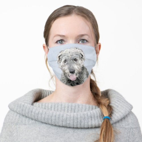 Irish Wolfhound Painting _ Cute Original Dog Art Cloth Face Mask