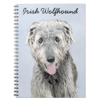 Irish Wolfhound Painting - Cute Original Dog Art Notebook