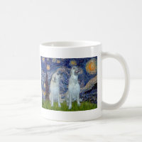 Irish Wolfhound Pair - Starry Night Coffee Mug