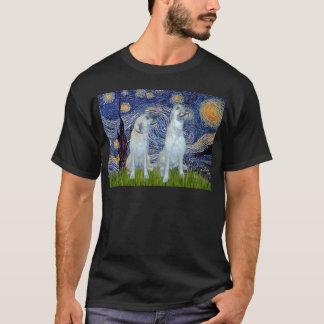Irish Wolfhound Pair - Starry Night T-Shirt