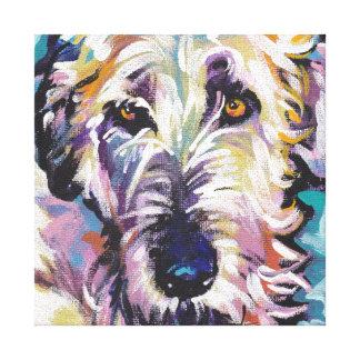 Irish Wolfhound Pop Dog Art on Wrapped Canvas