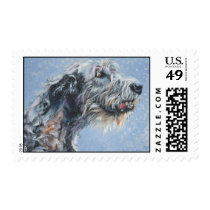 Irish Wolfhound postge stamp