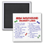 IRISH WOLFHOUND Property Laws 2 2 Inch Square Magnet