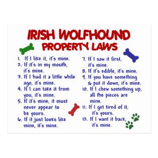 IRISH WOLFHOUND Property Laws 2 Postcards