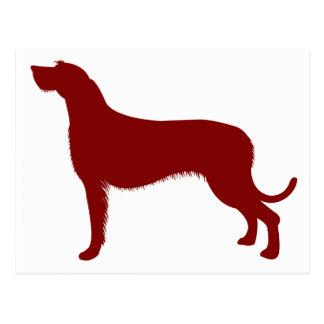 Irish Wolfhound (Red) Post Cards