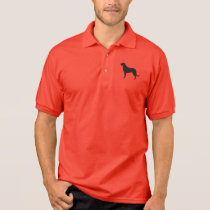 Irish Wolfhound Silhouette Polo Shirt