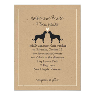 Irish Wolfhound Silhouettes Wedding Invitation