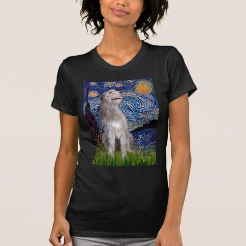 Irish Wolfhound _ Starry Night Vert T_Shirt