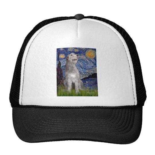 Irish Wolfhound - Starry Night (Vert) Trucker Hat