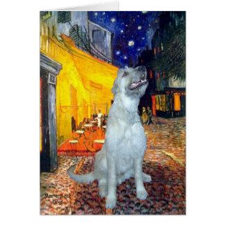 Irish Wolfhound - Terrace Cafe Greeting Card
