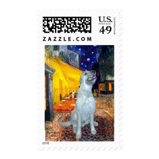 Irish Wolfhound - Terrace Cafe Postage Stamps