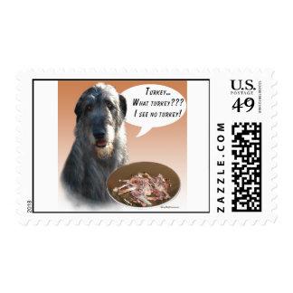 Irish Wolfhound Turkey Postage