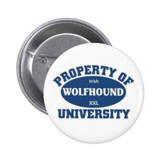 Irish Wolfhound University Pinback Button