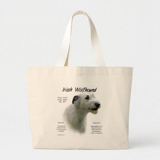 Irish Wolfhound (wht) History Design Jumbo Tote Bag