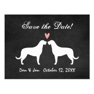 Irish Wolfhounds Wedding Save the Date Postcard