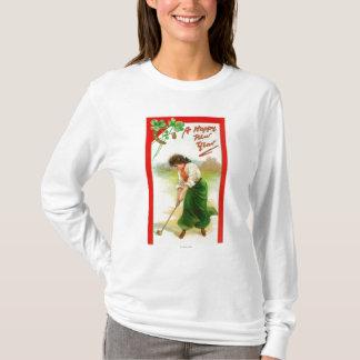 Irish Woman About to Hit Golfball T-Shirt
