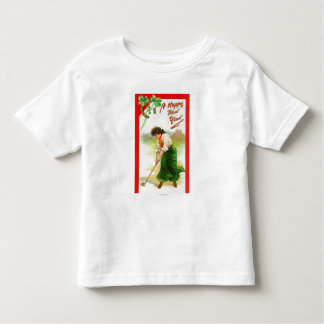 Irish Woman About to Hit Golfball Toddler T-shirt