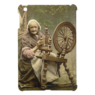 Irish Woman and Spinning Wheel 1890 Case For The iPad Mini