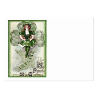 Irish Woman Ireland Shamrock Riverdance Large Business Cards (Pack Of 100)