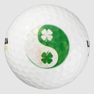 Irish Yin Yang Shamrock Design Pack Of Golf Balls
