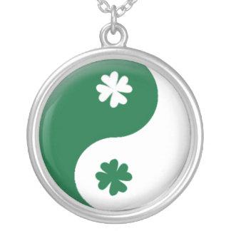 Irish Ying & Yang Round Pendant Necklace
