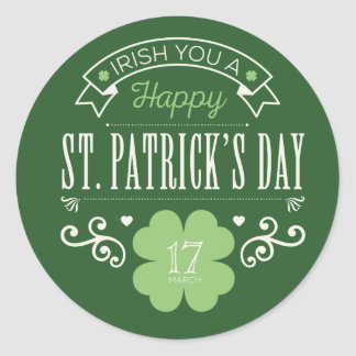 Irish You a Happy St. Patrick's Day Stickers