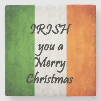 Irish You A Merry Christmas, Ireland Flag Coaster