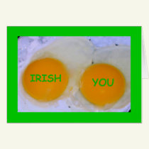Irish You An Egg-stra Special St Patrick's Day Card