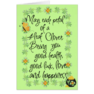 Irish you good luck - Greeting Card