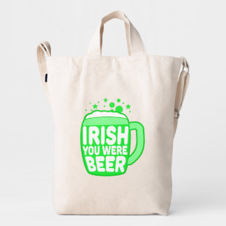 Irish You Were Beer Duck Bag