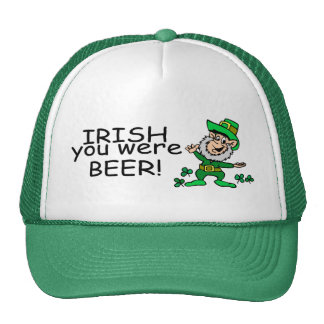 Irish You Were Beer Leprechaun Trucker Hat