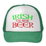 IRISH YOU WERE BEER MESH HAT