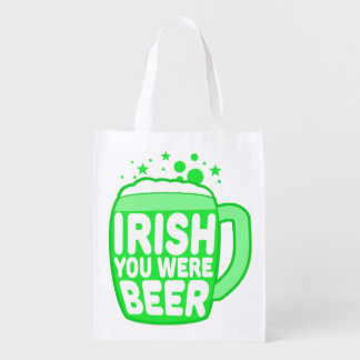 Irish You Were Beer Reusable Grocery Bag