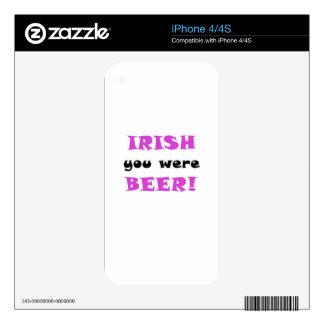 Irish You Were Beer Skin For iPhone 4