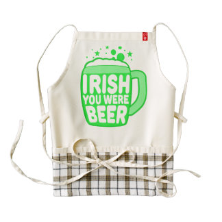 Irish You Were Beer Zazzle HEART Apron