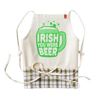 Irish You Were Beer Zazzle HEART Apron