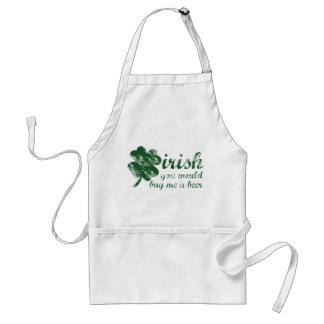 irish you would buy me a beer apron