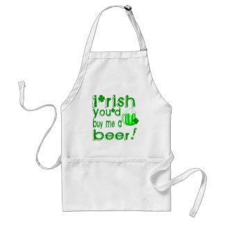 Irish you'd buy me a beer adult apron