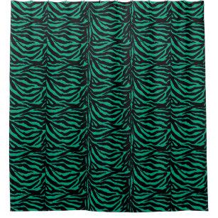 Irish Zebras Kelly Green Animal Print Shower Curtain