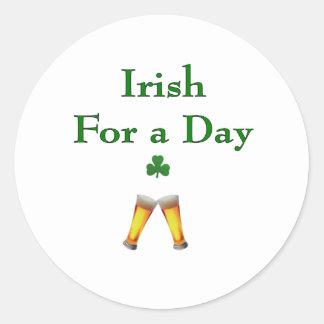 IrishForADay Classic Round Sticker