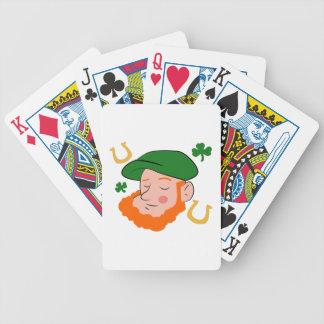 Irishman Head Bicycle Playing Cards